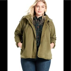 Lucky brand army green military jacket plus size